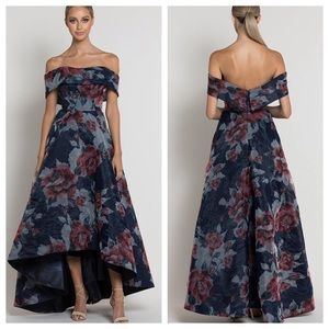 Bariano Ava Seraphina Off-Shoulder Gown. Floral